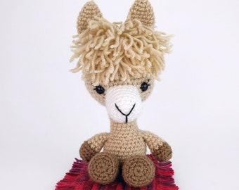 PATTERN: Lucy the Llama - Crochet llama pattern - amigurumi llama pattern - crocheted llama pattern - PDF crochet pattern