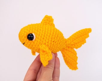 PATTERN: Gilly the Goldfish pattern - amigurumi goldfish pattern - crochet goldfish pattern - PDF crochet pattern