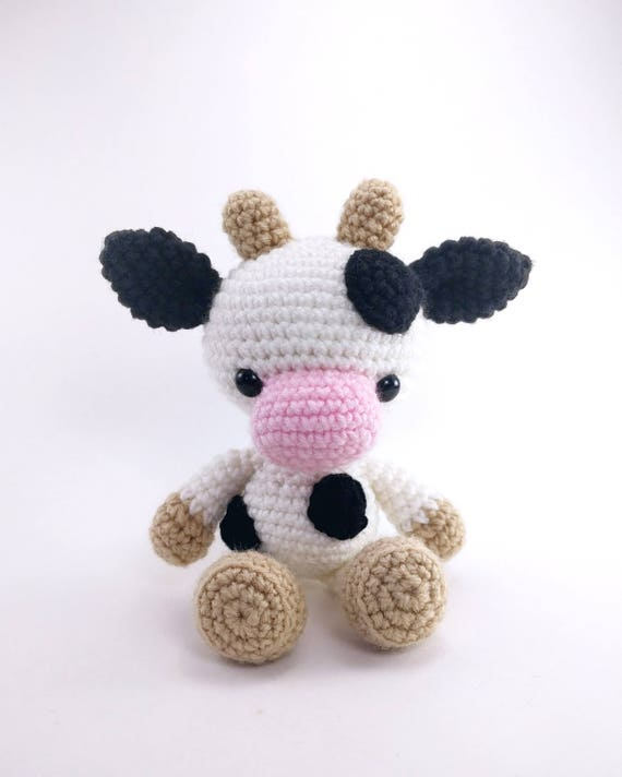 Pattern Chloe The Cow Crochet Cow Pattern Amigurumi Cow Etsy