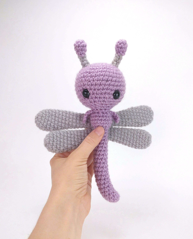 Pattern Dahlia The Dragonfly Crochet Dragonfly Pattern Etsy