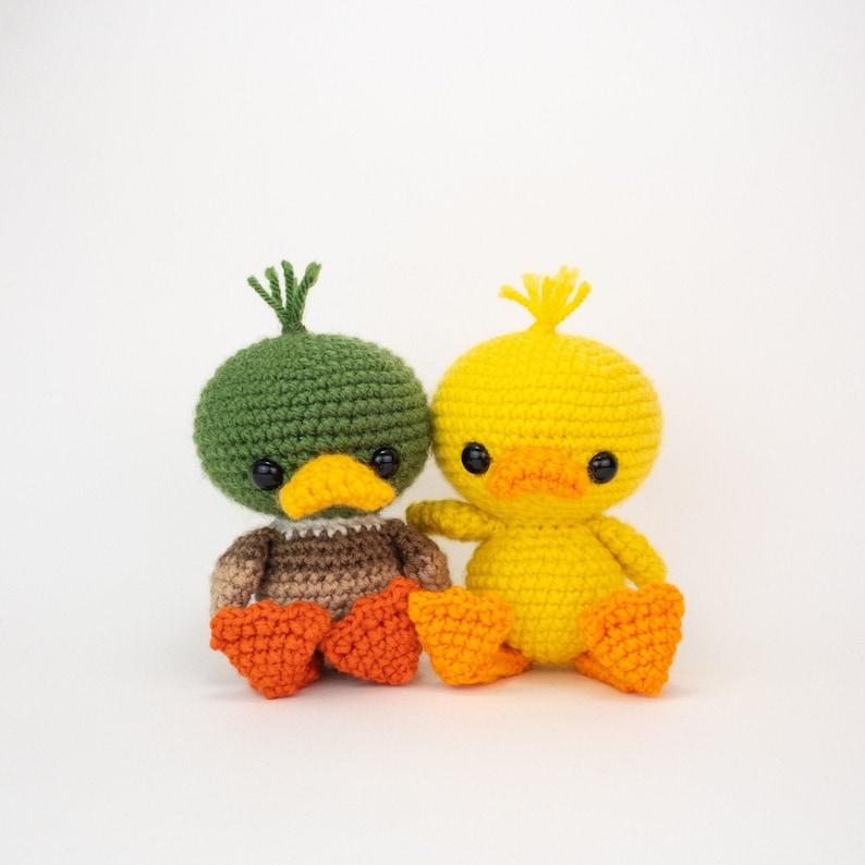PATTERN: Dilly and Mallard the Duck Friends  Crochet duck image 0
