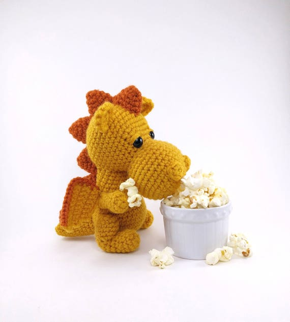 Pattern Popcorn The Dragon Crochet Dragon Pattern Etsy