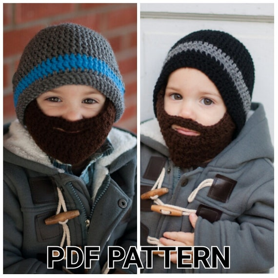 Pattern Crochet Beard Hat Pattern With Detachable Beard Etsy