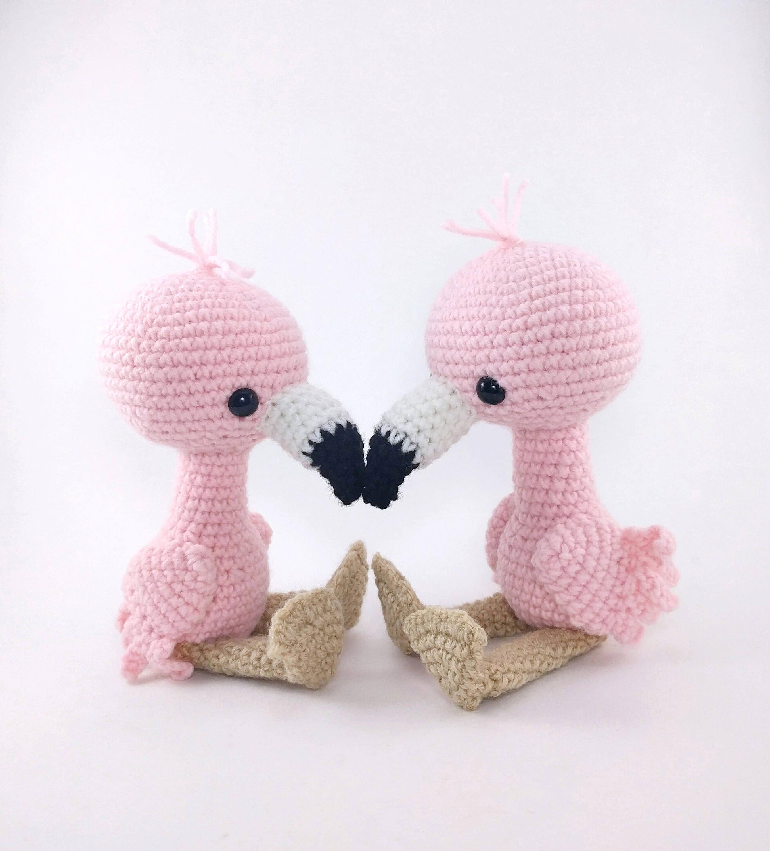 Sale Pattern Flamingo Friends Crochet Flamingo Pattern Etsy