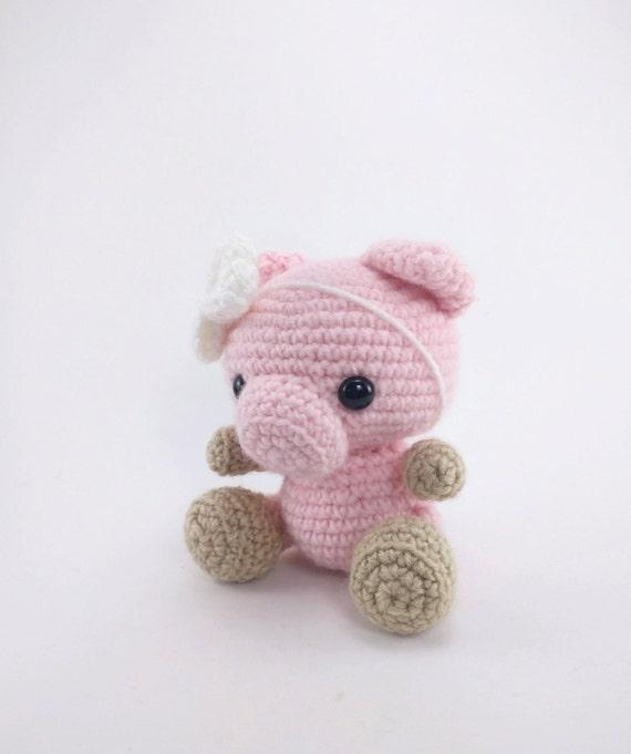 Pattern Pearl The Pig Crochet Pig Pattern Amigurumi Pig Etsy
