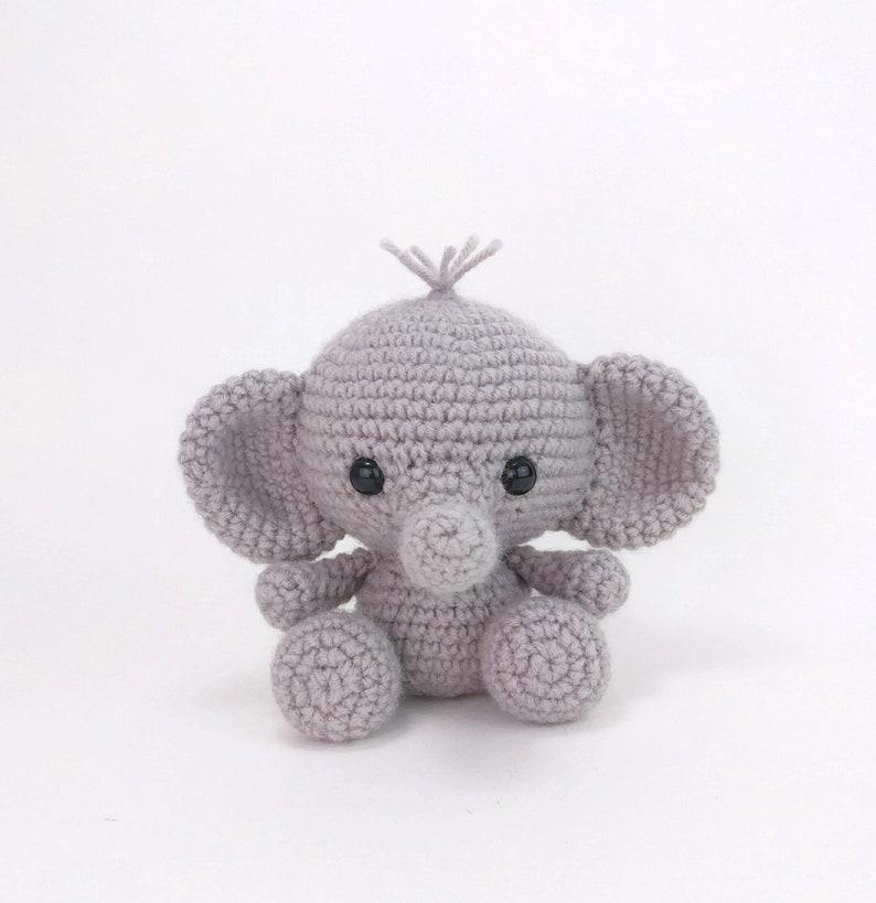 PATTERN: Ellis the Elephant  crochet elephant  amigurumi image 0