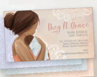 Doula Hebamme Visitenkarte Herunterladen Leere Kartendesign