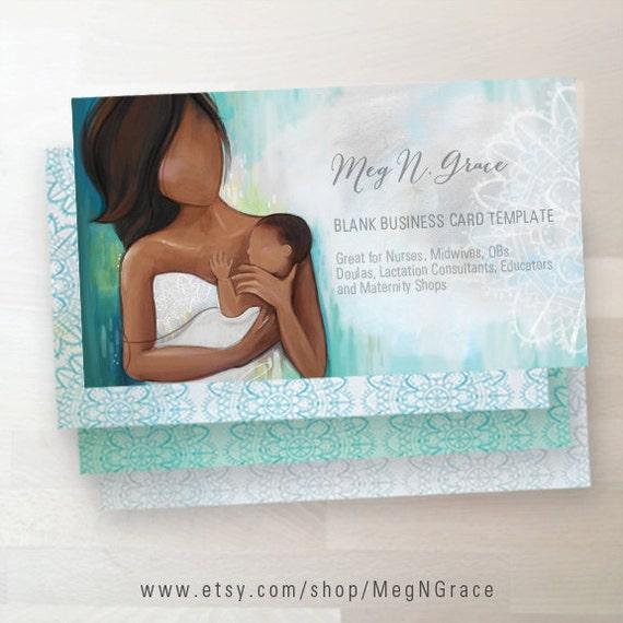 Doula Hebamme Visitenkarte Herunterladen Leere Kartendesign Für Hebamme Doula Geburterzieher Stillzeit Berater
