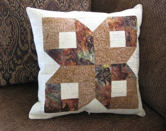 Box Quilt Block Table Topper and Pillow