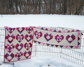 Heart Table Runner and Baby Quilt Tutorial