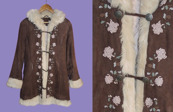 Brown Vegan Penny Lane Coat/ 1970s inspired / Hipp