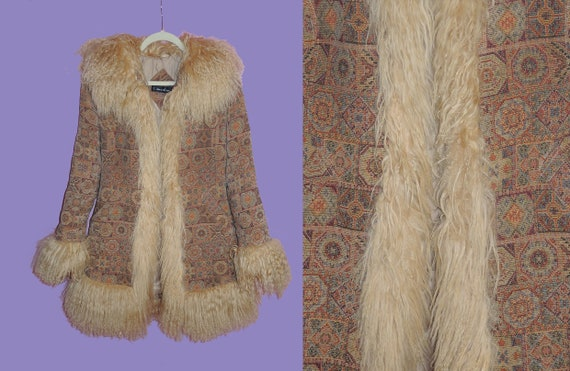 Very Rare Tapestry Penny Lane Coat / Fluffy and lo
