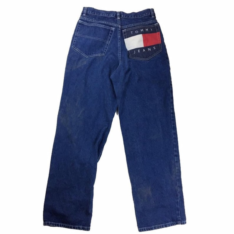 219104d454b Vintage Tommy Hilfiger Denim Pants Jeans Size 20 Flag Big Logo