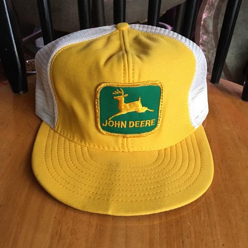 746818dbb7a6b Vintage John Deere Made In Usa Trucker Mesh Hat jacket sweater