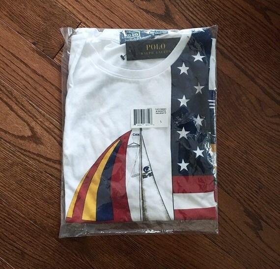 90d23625dd0 Ralph Lauren Cp-93 Tee Shirt Sailing Size Large Regatta hat