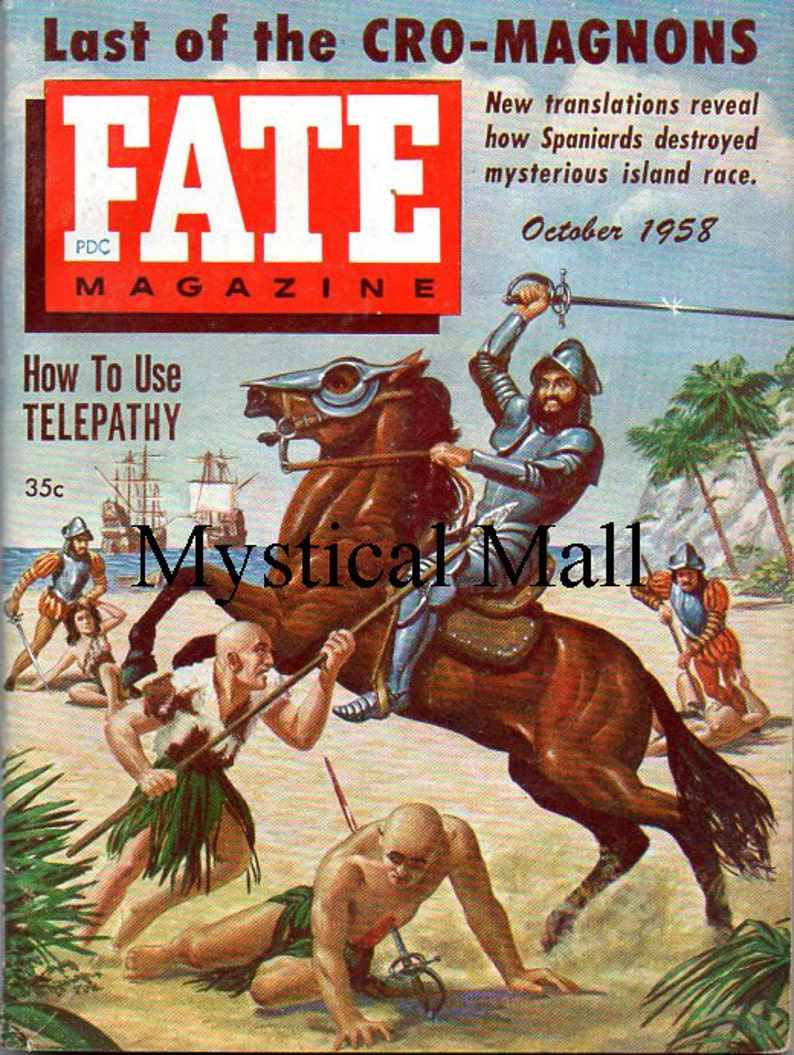 Fate Magazine October 1958 Issue #103 Volume 11 Number 10 Last of The  Cro-Magnons and How To Use Telepathy