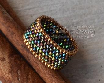 cade149dde117 Seed bead ring | Etsy