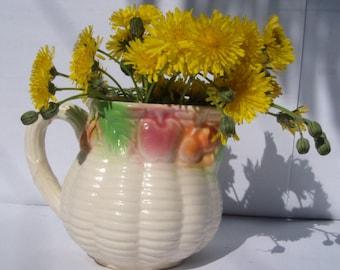 nice small  pitcher or flowerpot ceramic pot carafe jug decanter. Ceramic pitcher