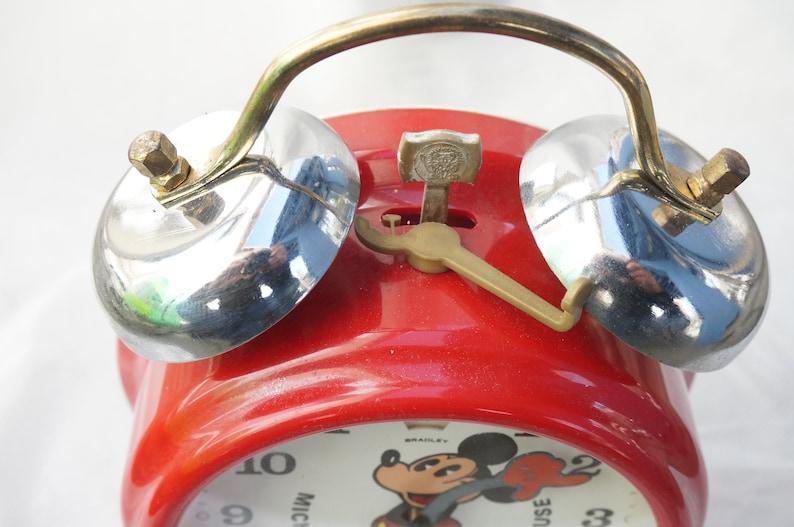Vintage à collectionner Bradley Mickey Mouse Wind Up réveil des années 1960