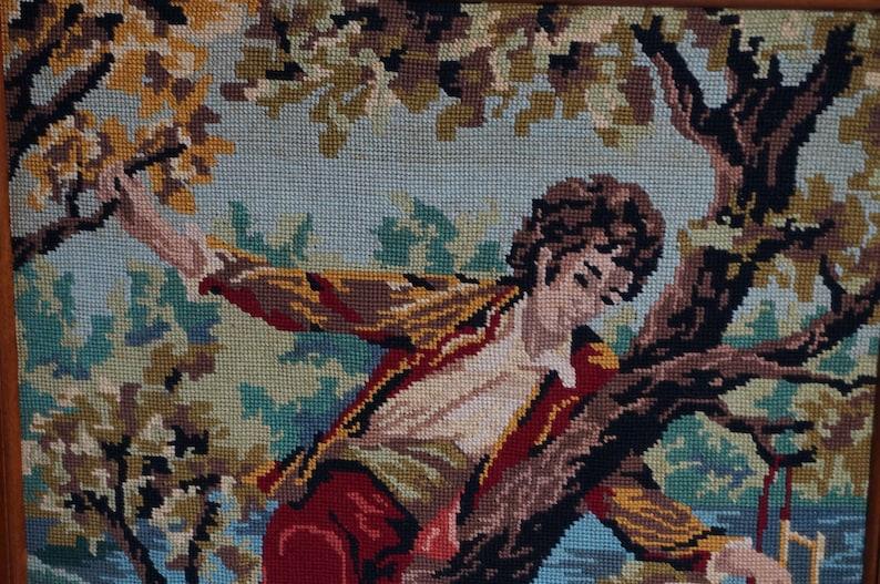 Framed  TapestryNeedlepoint Canvas Finished Needlepoint Gulliver