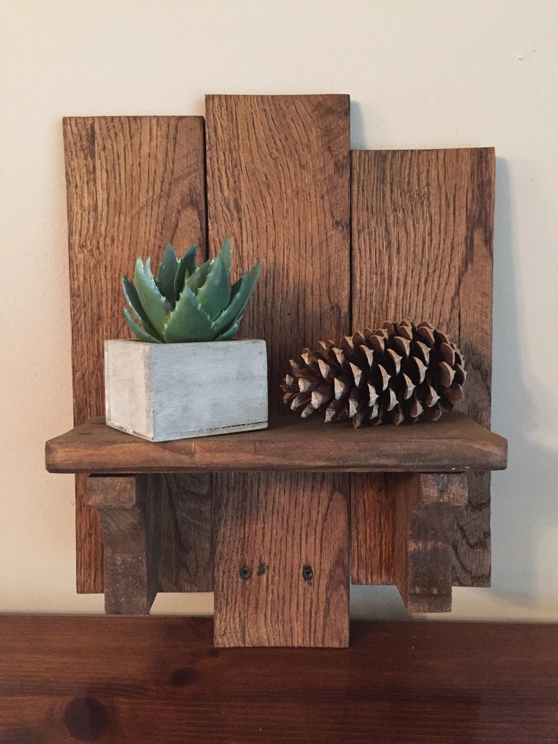 Pallet Wood Display Shelf Unique Handmade Item
