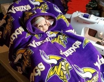 Car Seat Poncho Cover Up Minnesota Vikings Print Purple 91647f64b