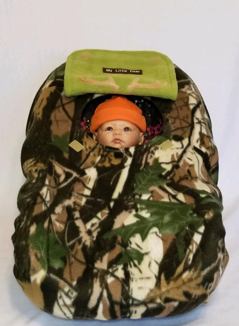 bfe7cd48343 Car Seat Cover Deepwoods Green Camo Baby With Avocado Green