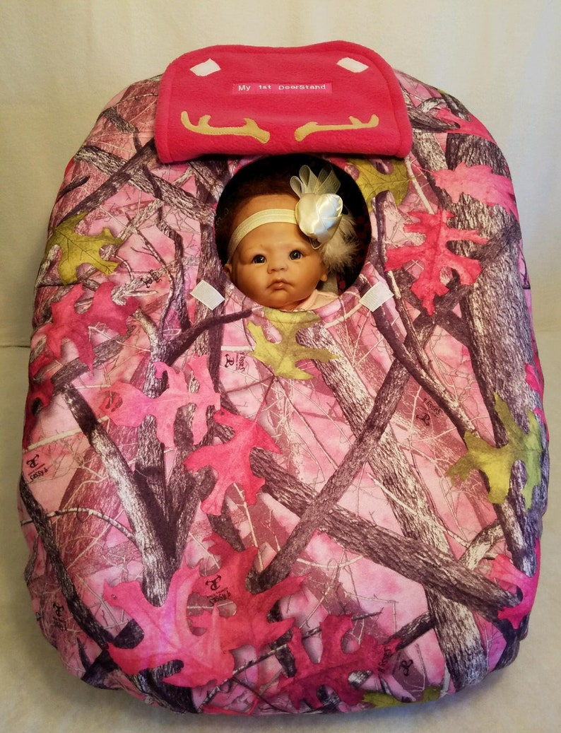 1c6104c99 Car Seat Cover Sassy Girl Bright Pink Camo Baby True Timber