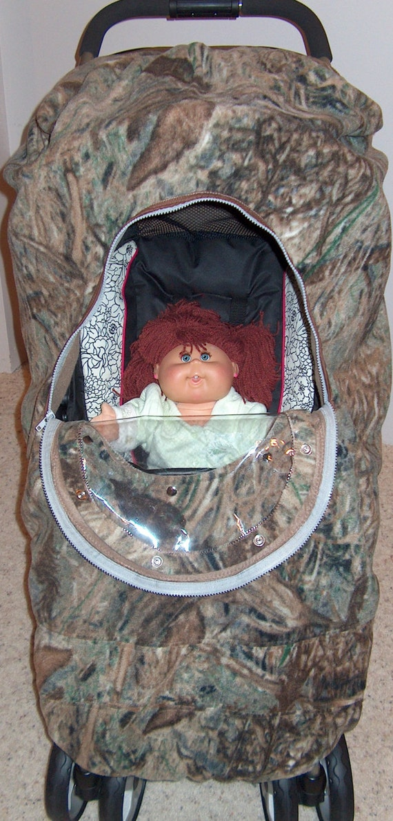 Camo Stroller Cover Baby Mossy Oak Duck Blind Cozy Hand Made