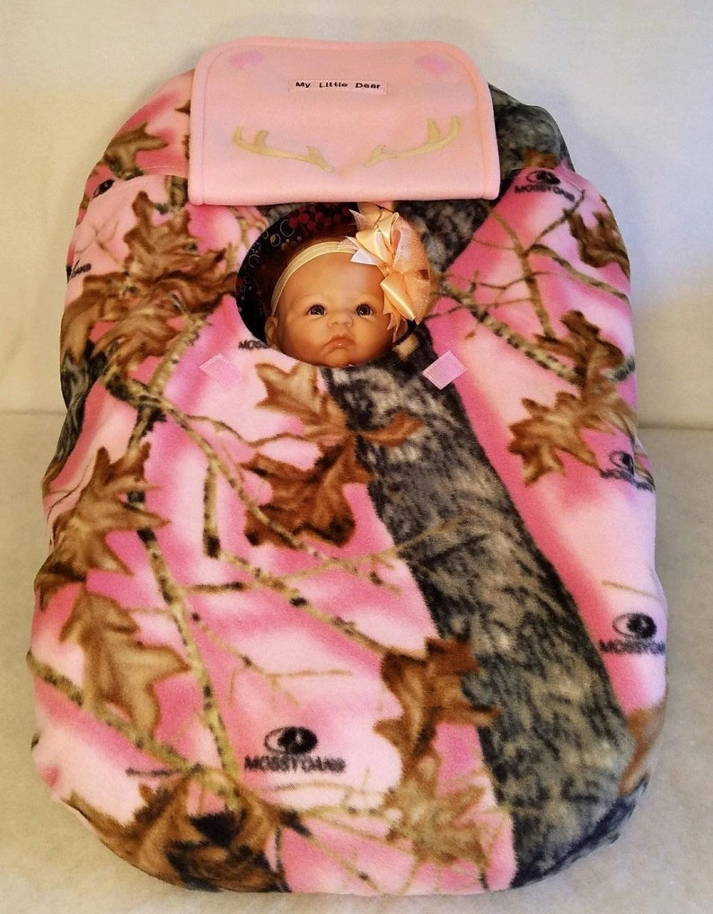 1865a7f97d491 Car Seat Cover Pink Camo Baby Girl Mossy Oak Break Up With | Etsy