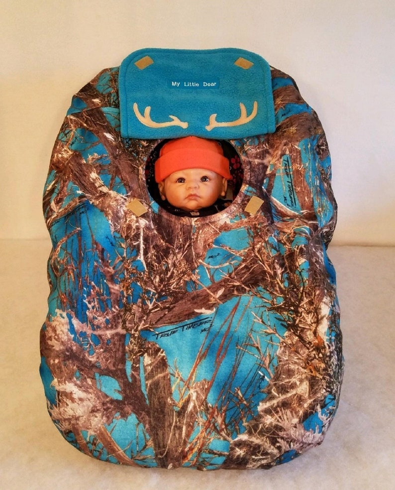 de00715df Car Seat Cover True Timber Blue Camo Baby Teal Turquoise Cozy