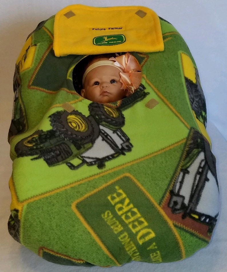 1c079067ffb Car Seat Cover John Deere Baby Cozy Green Tractors With Yellow