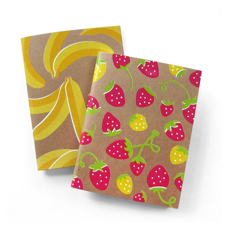 Mini Notebooks NMWA Banana Strawberry Notebook Set