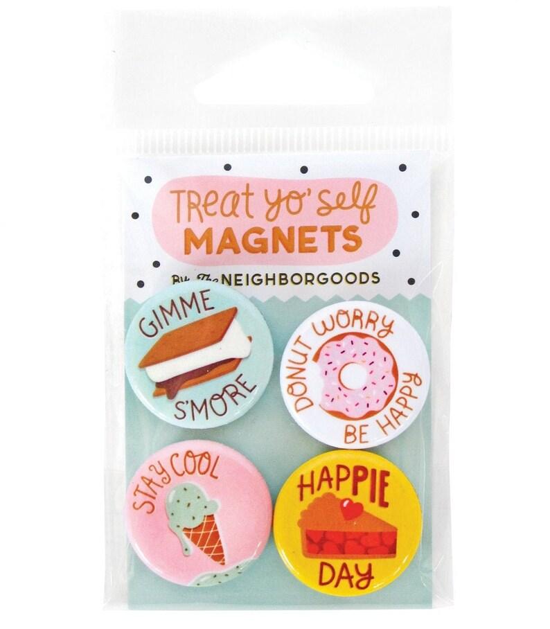 doughnut magnet treat magnets ice cream magnet pie magnet donet magnet Treat Yo Self magnets s/'more magnet