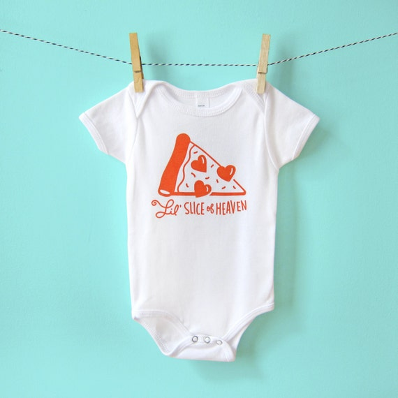 Funny Baby Clothes Baby Gift Gender Neutral One-Piece Pizza