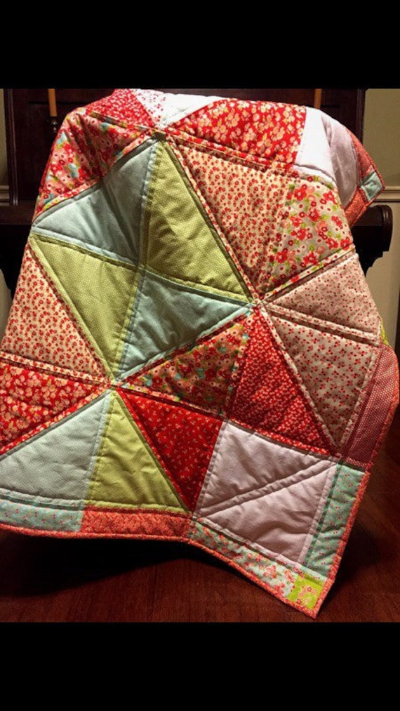 The Evelyn Quilt 40 X 40 Handmade Star Block