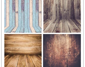 Vinyl Backdrop Vintage Wood Floor Photo Background Newborn Distressed