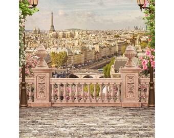 Backdrop, Eiffel Tower, Photo Backdrop, Photography Backdrop, Party Backdrop, Wedding Backdrop, Vinyl Backdrop, Birthday Backdrop