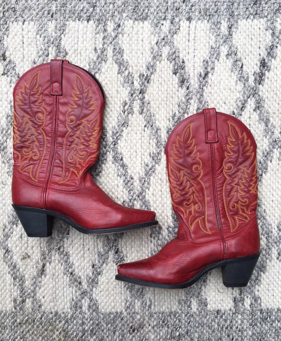 Vintage Western Red Laredo Cowboy Boots