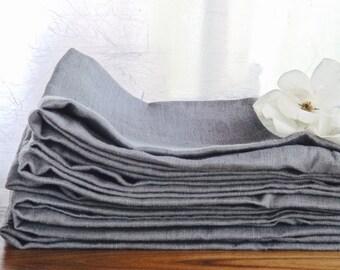 Set of 2 Grey Linen Towels , Grey organic towels, Grey Linen Kitchen Towels, Grey Linen Hand Towels, Grey linen dish towels, Grey tea towels
