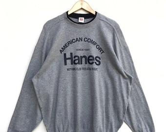 1c0fe402 MEGA SALE Vintage Hanes Sweatshirt / Hanes Sweater / Hanes Sportwear /  Hanes Shirt / Hanes USA