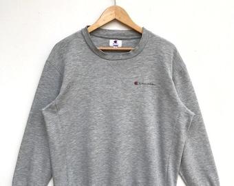 cf6786cc MEGA SALE Vintage Champion Embroidery Logo Sweatshirt / Champion Crewneck /  Champion C Logo / Sportwear Streetwear