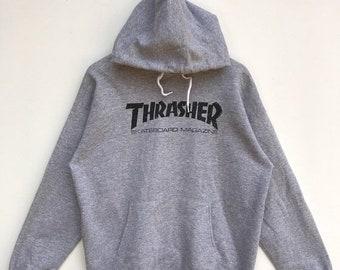 d46ac28714ca 20% OFF Vintage Thrasher Skateboard Magazine Sweatshirt,Thrasher Sweater, Skate Clothing,Powell Peralta,Santa Cruz