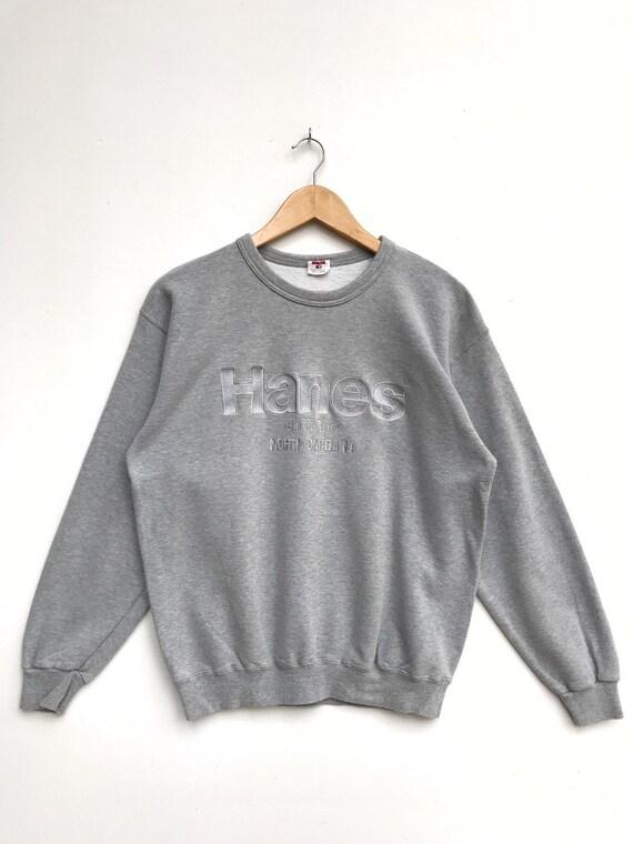 Vintage Hanes Embroidery Sweatshirt / Hanes Sportw