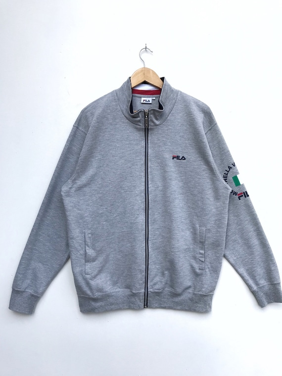 Vintage Fila Zipper Sweater / Fila Jacket / Fila S