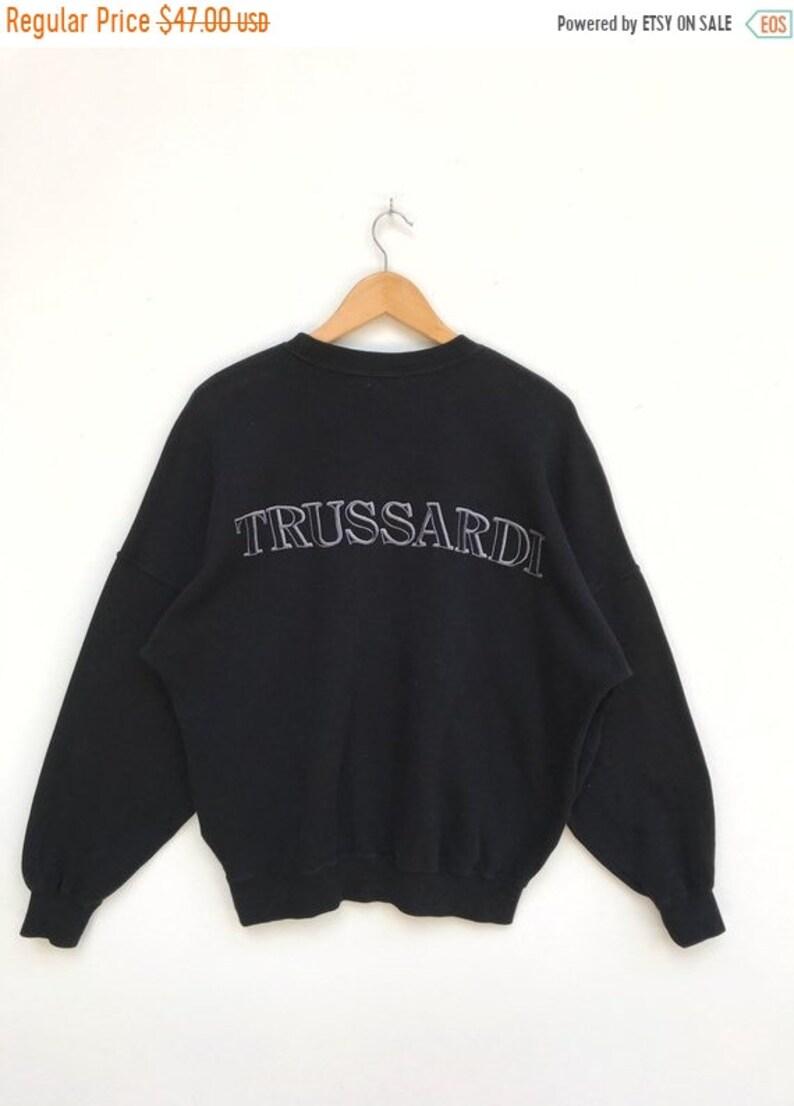 959de7b0 MEGA SALE Vintage Trussardi Embroidery Big Logo Sweatshirt /   Etsy