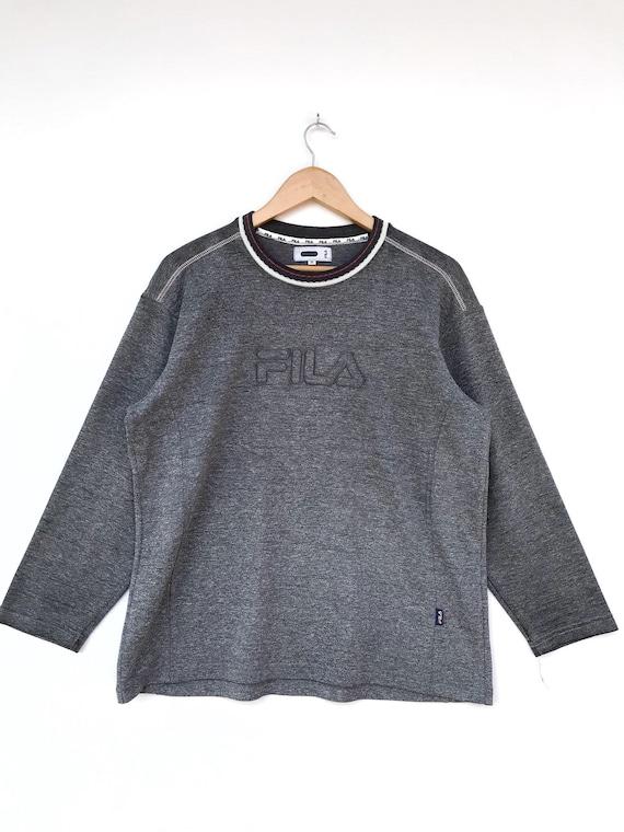 Vintage Fila Embroidery Logo Pullover / Fila Sweat
