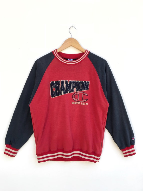 Vintage Spell Out Big Logo Sweatshirt / Champion S