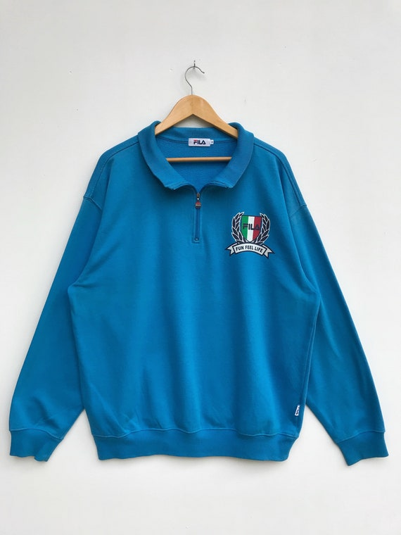 Vintage Fila Half Zipper Sweater / Fila Sweatshirt