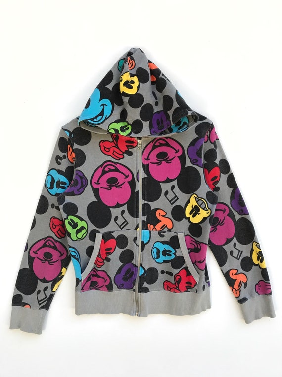Vintage Mickey Mouse All Over Print Hoodie / Micke